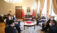 Vali Doğan, Kazakistan Büyükelçisi Abzal Saparbekuly'i Kabul Etti