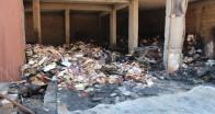 Reyhanlı'daki yangın sonrası hasar tespit çalışması başlatıldı