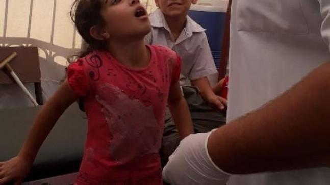 Bayramlaşmadan dönen Suriyeli çocuklara aşı yapılıyor