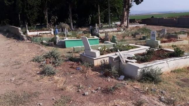 Mezar taşlarını tahrip eden 6 kişi göz altına alındı