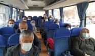 Karantinadaki umrecilerin otobüslerle yuvalarına dönüş yolculuğu başladı