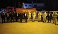 Reyhanlı'da trafiğe kapatılan caddeler dezenfekte edildi
