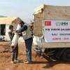 Suriye'deki kamplara halı ve mat yardımı