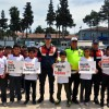 Öğrenciler Trafik Haftası'nda broşür dağıttı