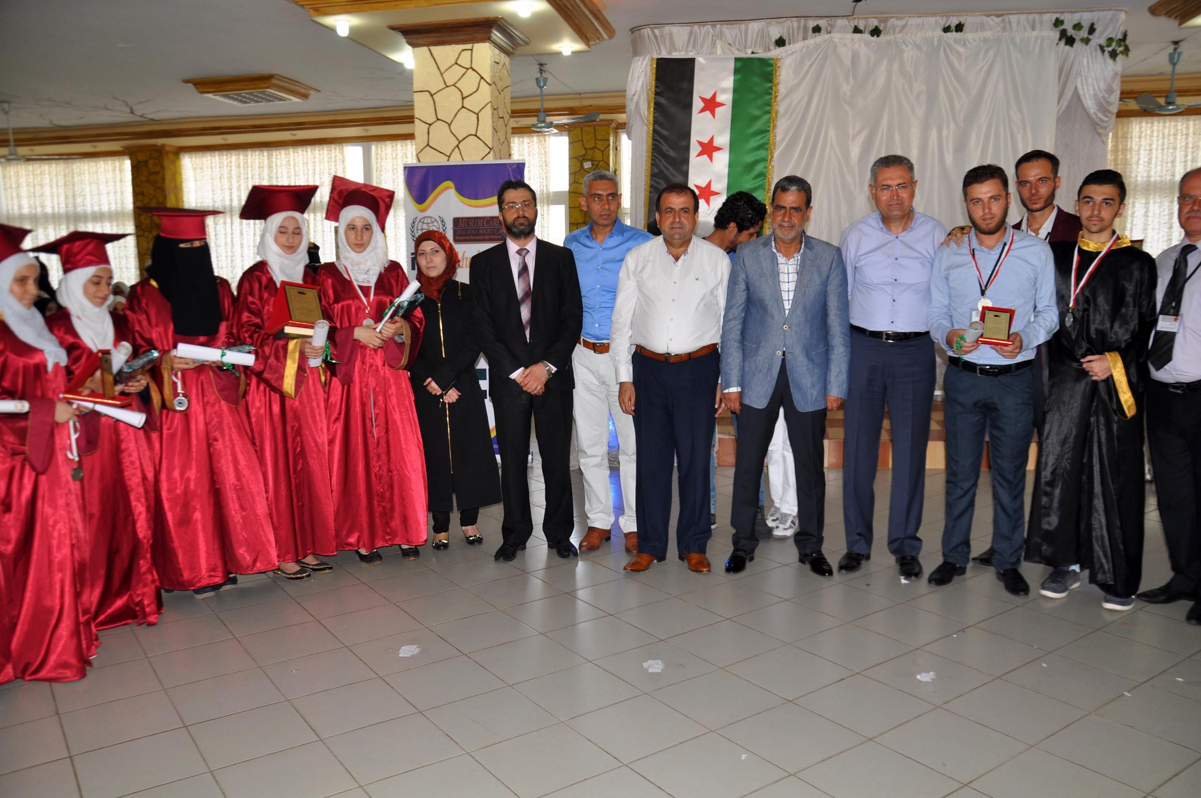 Suriyeli Öğrencilere Mezuniyet Töreni Düzenlendi