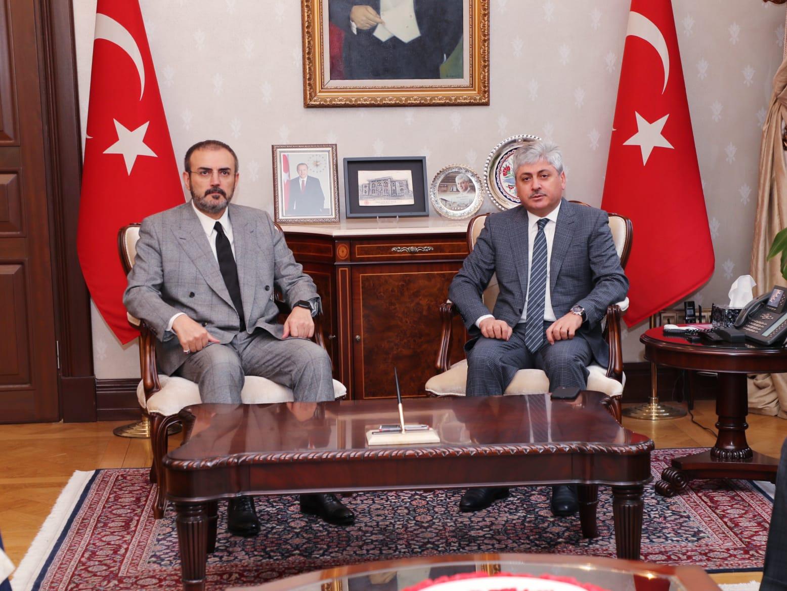 AK Parti Genel Başkan Yardımcısı Ünal'dan Vali Doğan'a Ziyaret