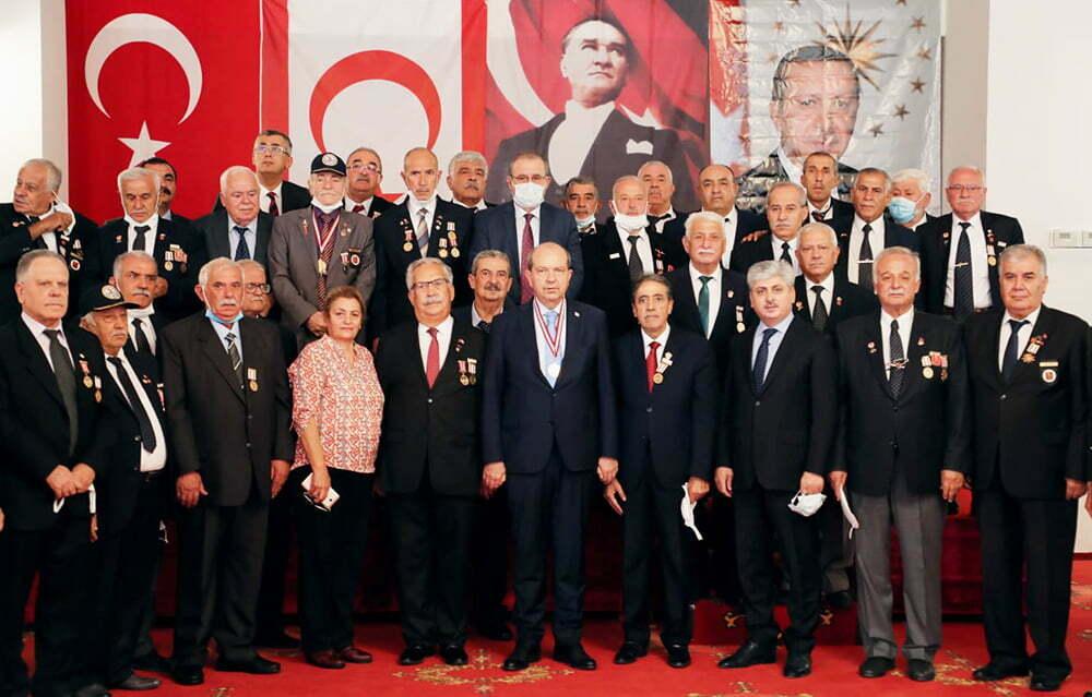 Vali Doğan ve KKTC Cumhurbaşkanı Tatar Kıbrıs Gazileriyle Bir Araya Geldi