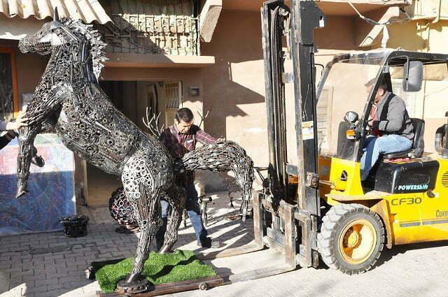 Hurdadan Yapılan At ve Geyik Heykeli  Başkent'te Görücüye Çıkacak