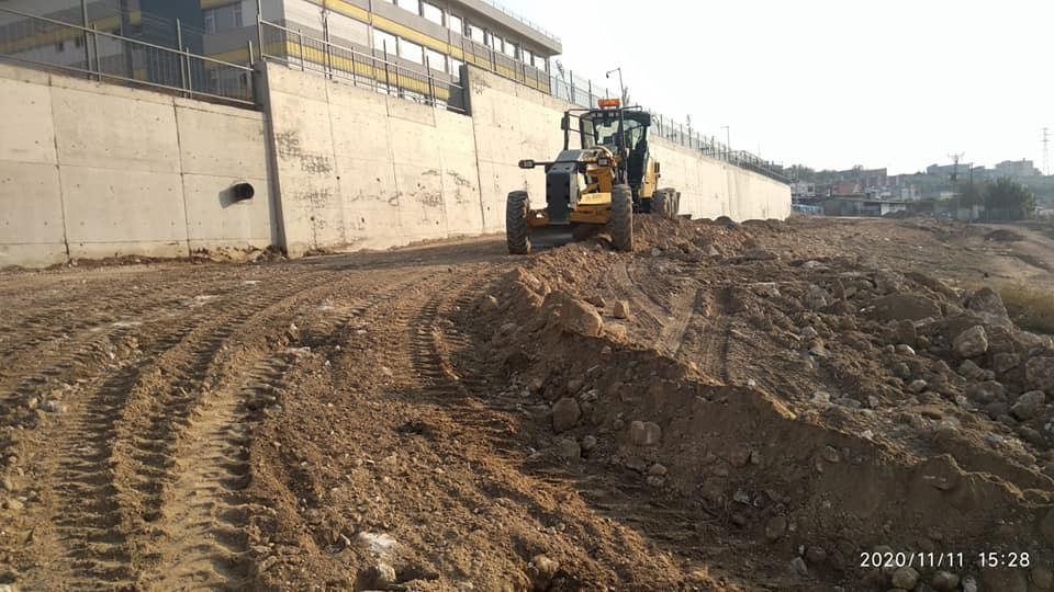 Yeşilova Anadolu Lisesi yolu yapılıyor