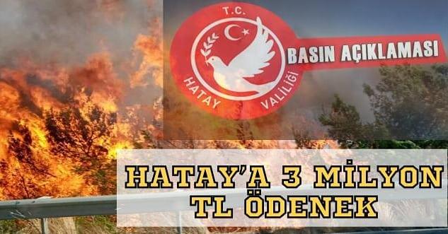 HATAY'A 3 MİLYON TL ÖDENEK