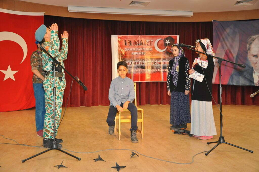 Reyhanlı'da Çanakkale Zaferi'nin 102'nci yıldönümü kutlandı