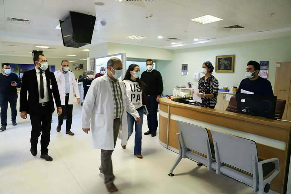 Başhekim Bayrakçıoğlu, hastanedeki çalışmaları inceledi