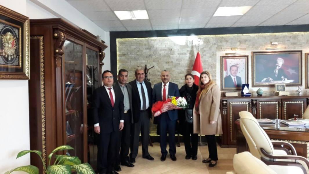Başkan Şanverdi'ye Teşekkür Ziyareti