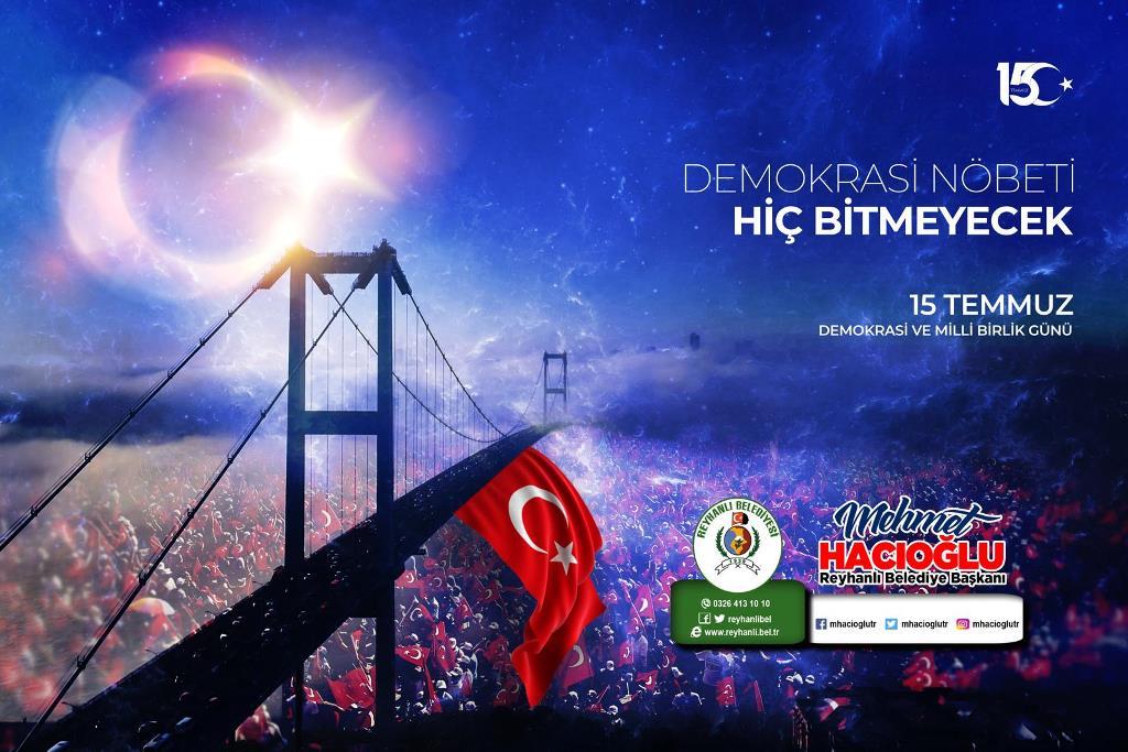 Başkan Hacıoğlu'nun 15 Temmuz Demokrasi ve Milli Birlik Günü Mesajı