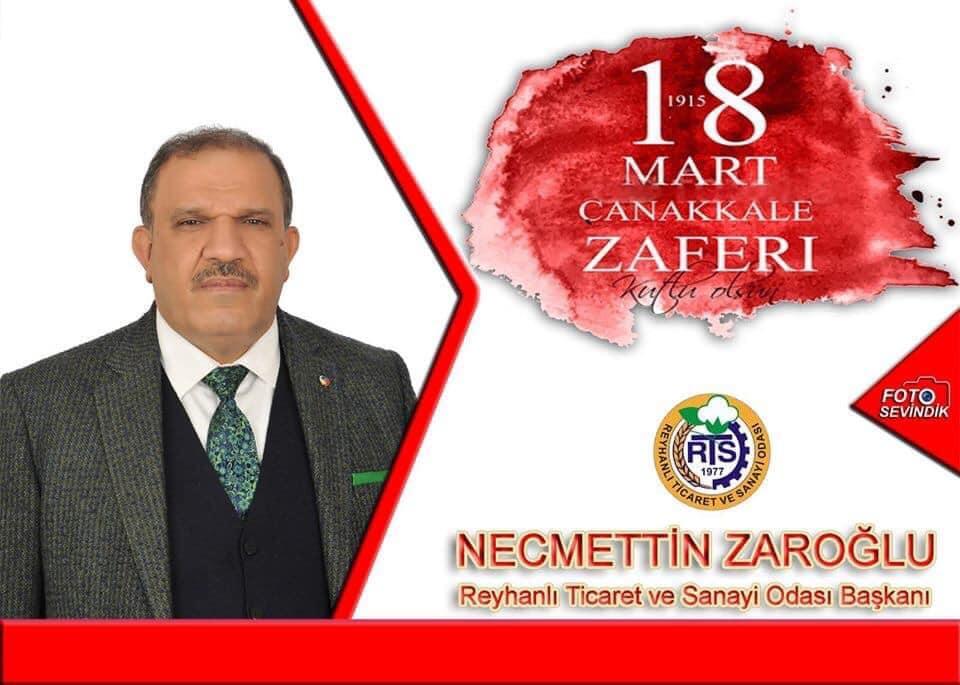 Başkan Zaroğlu'nun  18 Mart Çanakkale Zaferi Kutlama Mesajı