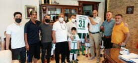 Yılmaz Çamlıca Futbol Okulu yönetiminden Başkan Hacıoğlu ve Oda Başkanlarına nezaket ziyareti