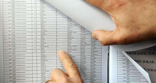 Seçmen listeleri bugün askıya çıkıyor
