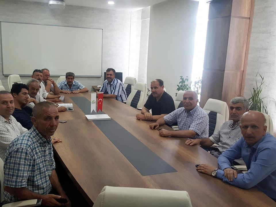 Başkan Çüter Ve Reyhanlı Muhtarlarından Genel Müdür Çaparali'ye Ziyaret