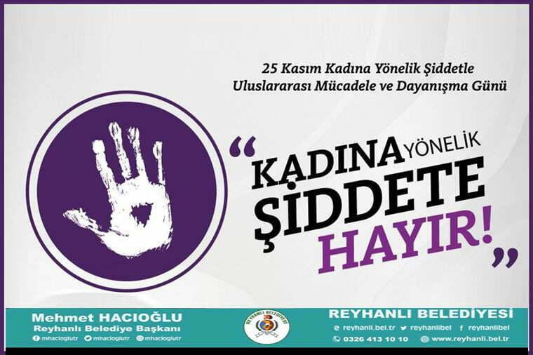 Başkan Hacıoğlu'nun 25 Kasım Kadına yönelik şiddetle mücadele günü Mesajı