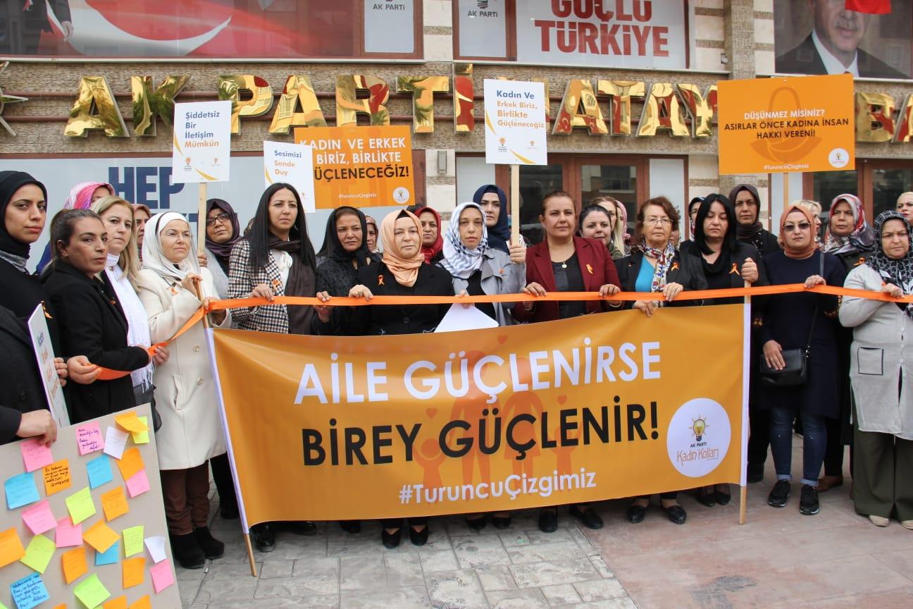 KADINA ŞİDDETE KARŞI 'TURUNCU ÇİZGİ'