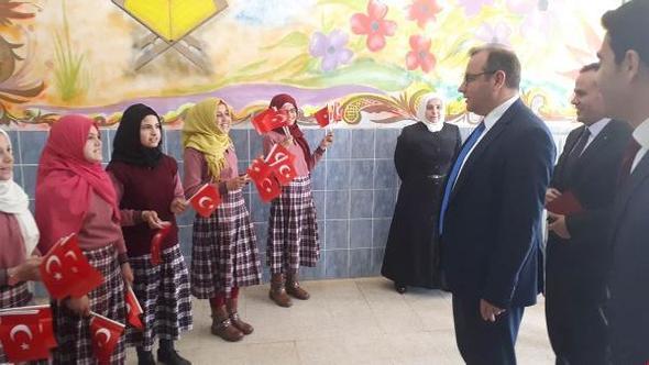 Kaymakam Çobanoğlu'ndan  okul ziyareti