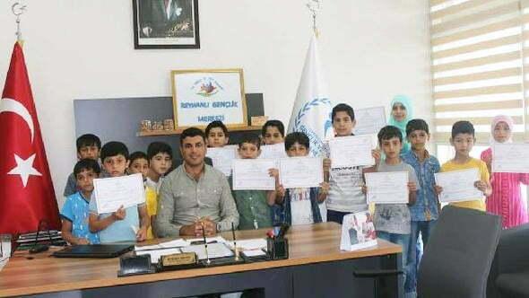 Suriyeli çocuklara Türkçe eğitimi verildi