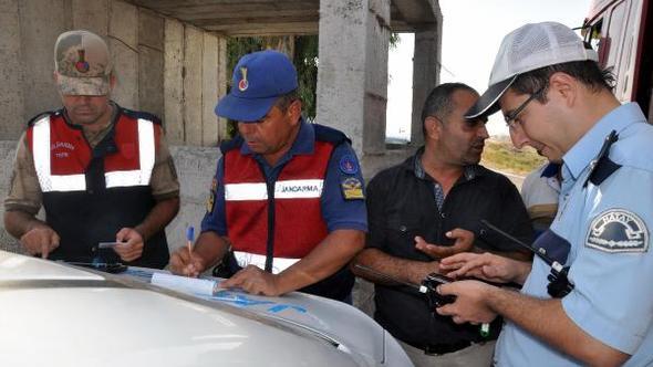 Jandarma ve polisten, radar ve  drone destekli denetim