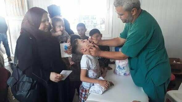 Bayramlaşmaya giden Suriyeli çocukların eksik aşıları tamamlanıyor