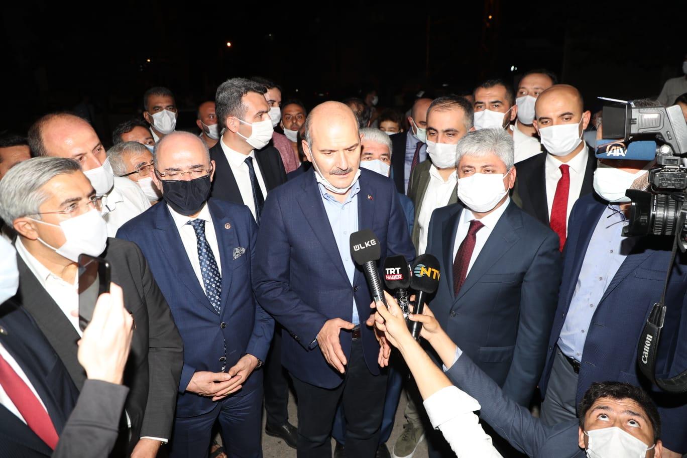 """İÇİŞLERİ BAKANI SOYLU,  """"YANGINI TERÖR ÖRGÜTÜ PKK'NIN GERÇEKLEŞTİRDİĞİ KONUSUNDA KANAATLER VAR"""""""