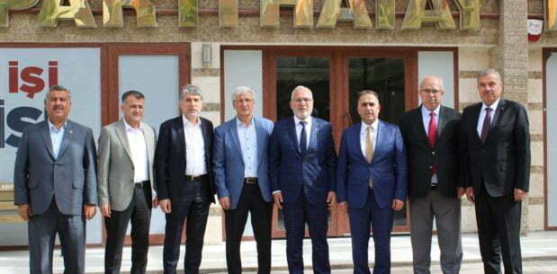 Başkan Yeloğlu'na, ilçe belediye  başkanlarından ziyaret