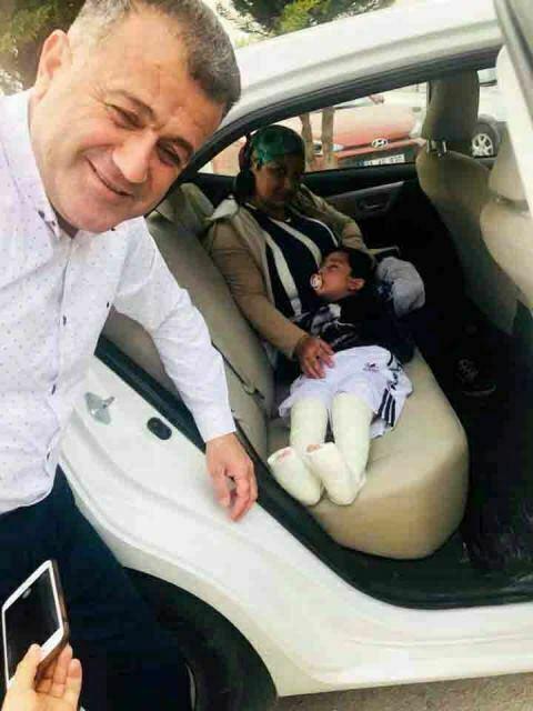 Hacıoğlu'dan minik Burak'a destek