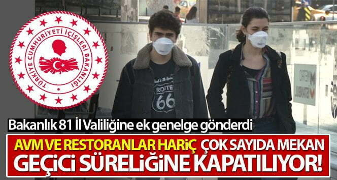 İçişleri Bakanlığı'ndan 81 il valiliğine 'Korona Virüs Tedbirleri'