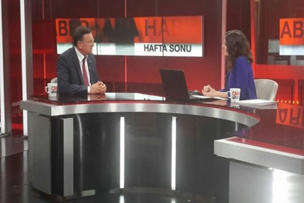 BAŞKAN SAVAŞ, CNN TÜRK EKRANLARINDA TÜRKİYE'YE HATAY'I ANLATTI