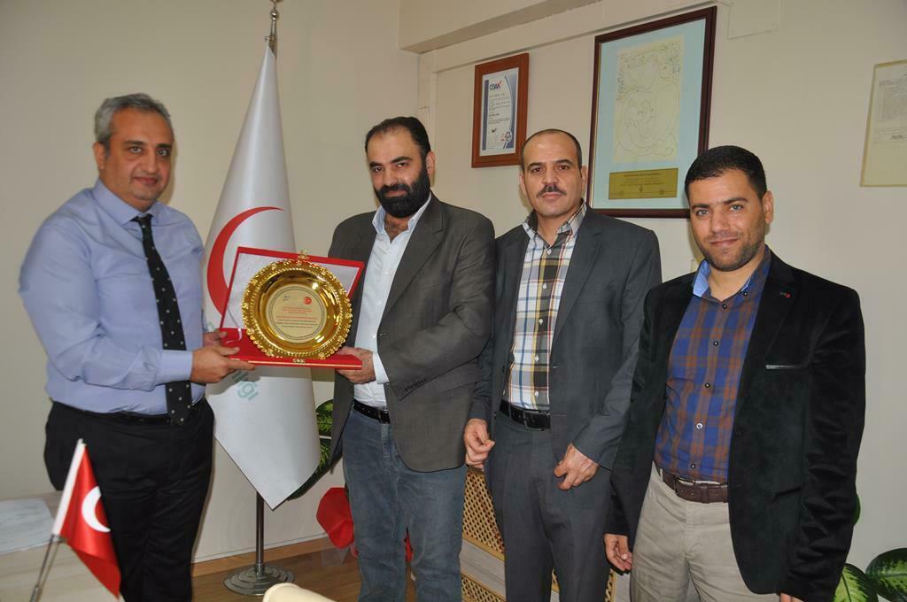 İdlib Sağlık Müdürü'nden Devlet Hastanesine Teşekkür Plaketi