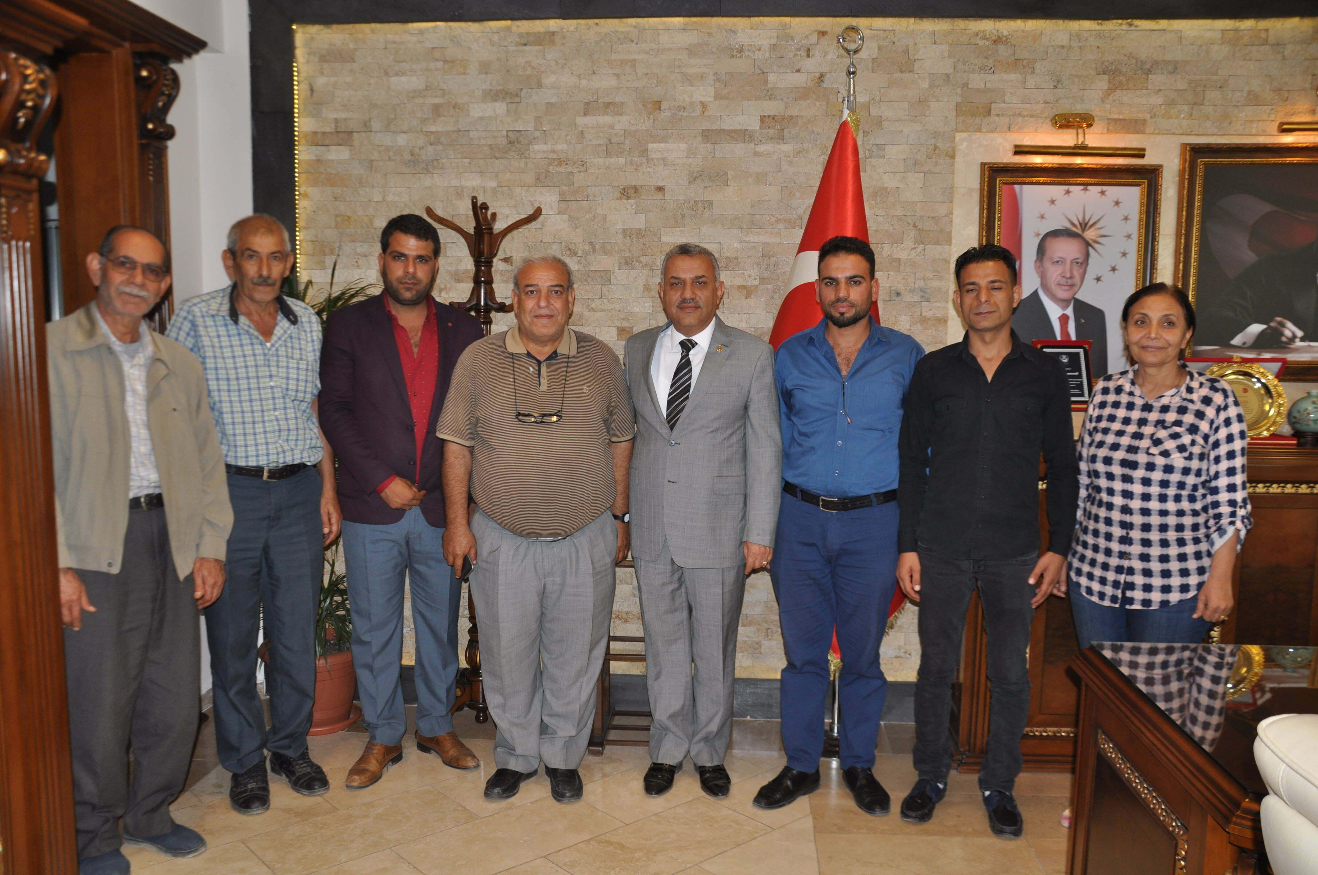 11 Mayıs Şehitler Derneği'nden Başkan Şanverdi'ye ziyaret
