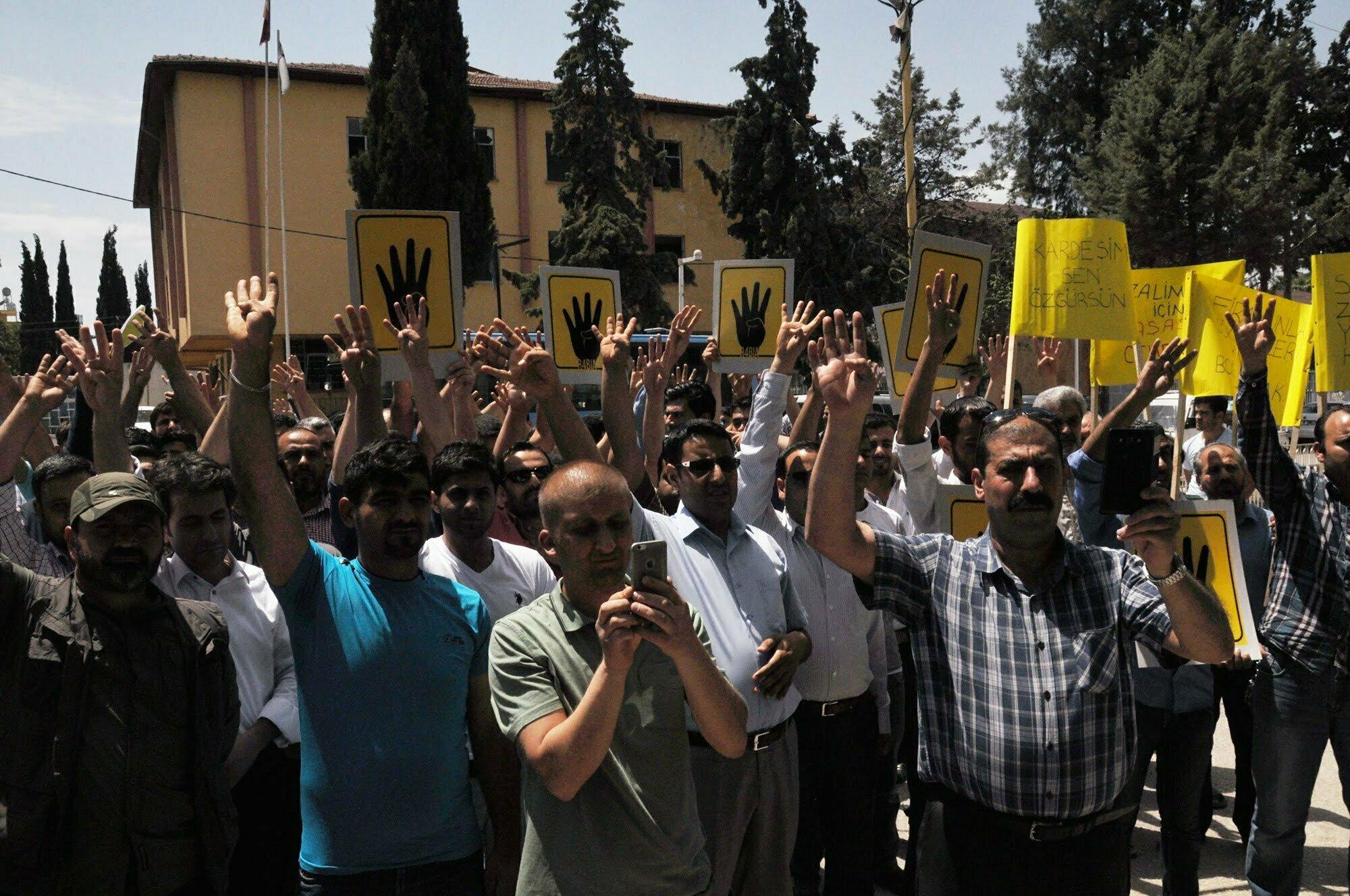 Reyhanlı İlçesi'nde Mursi'ye destek eylemi