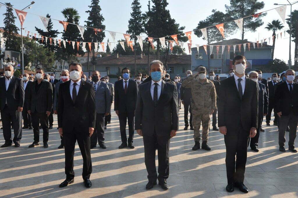 Gazi Mustafa Kemal Atatürk Reyhanlı'da Törenle Anıldı