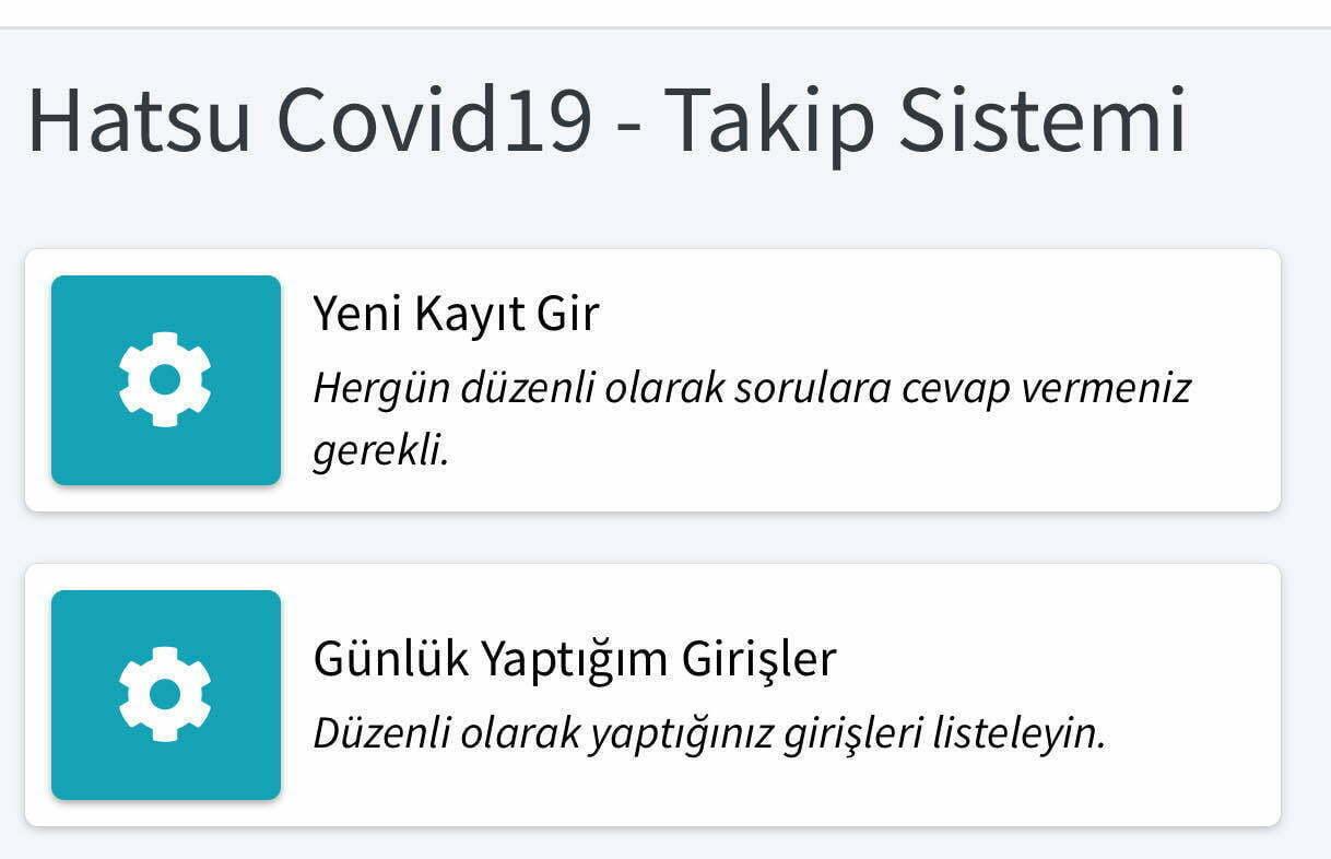 HATSU, PERSONELİ İÇİN  'HATSU COVİD-19   TAKİP SİSTEMİ'Nİ KURDU