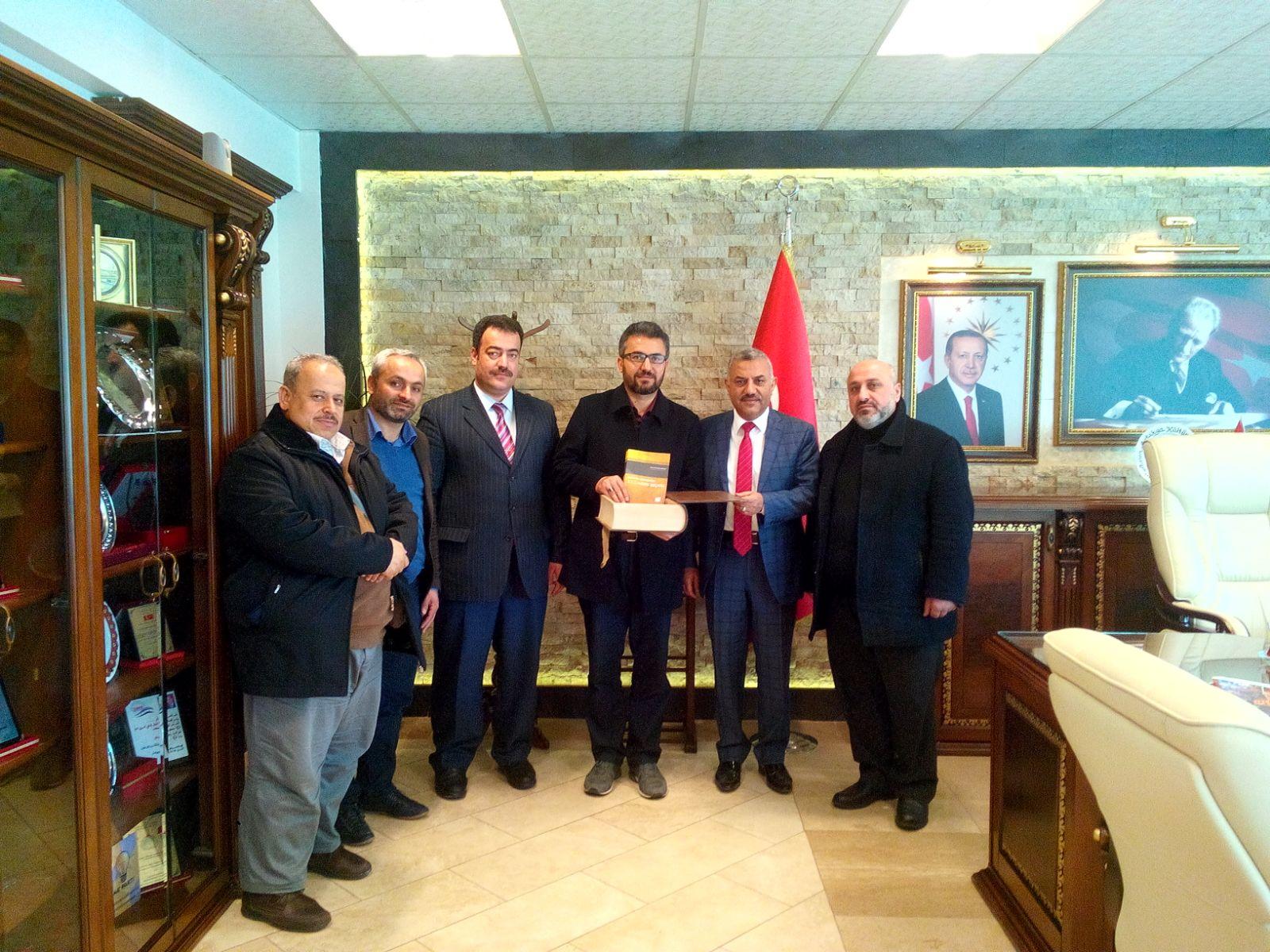 Hatay Kaşifan Gençlik Spor ve İzcilik Kulübünden  Başkan Şanverdi'ye Ziyaret