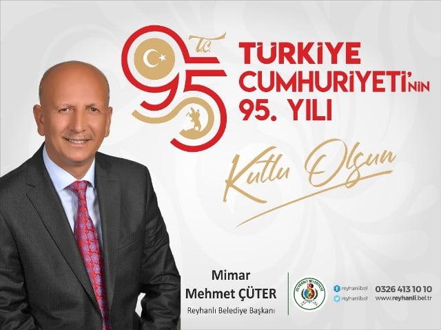 Başkan ÇÜTER'in 29 Ekim Cumhuriyet Bayramı Mesajı