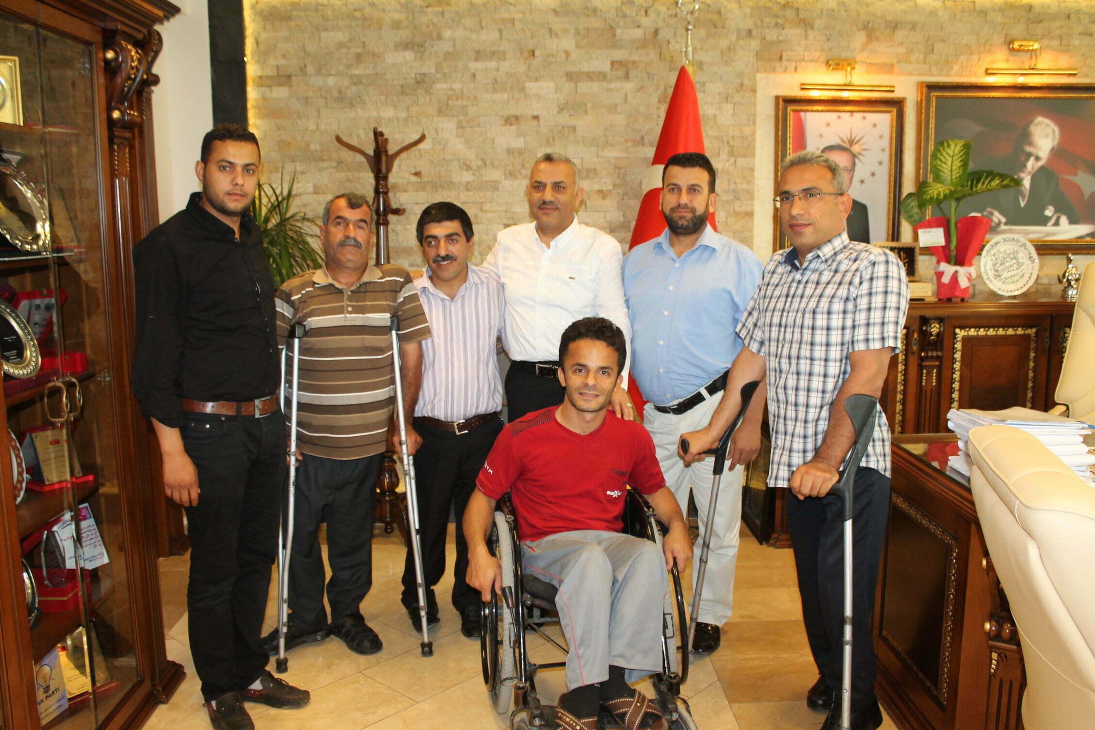 Defne Engelliler ve Gönüllüler Derneği'nden  Başkan Şanverdi'ye Nezaket Ziyareti