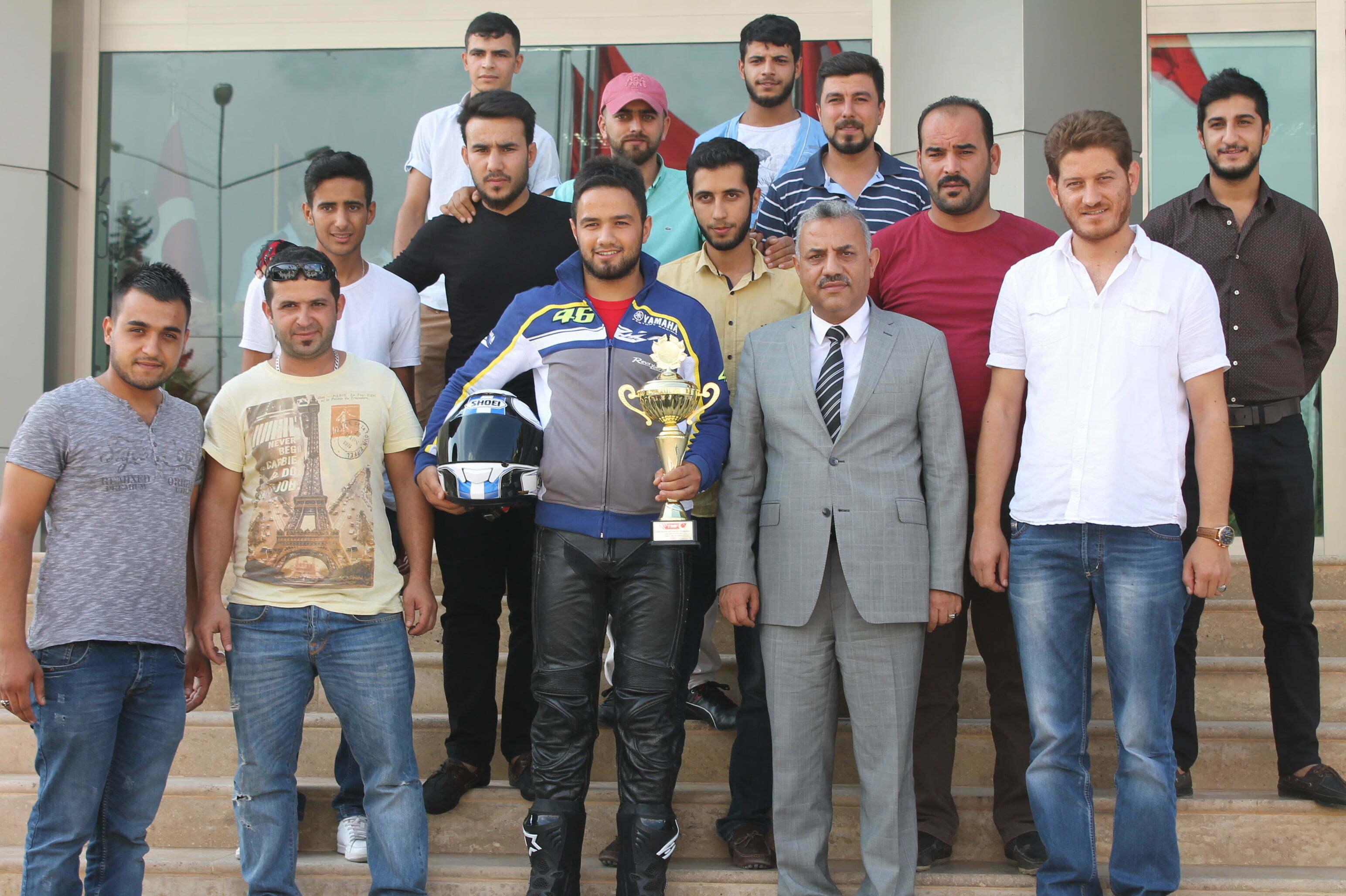 Şampiyon Yarışçıdan Başkan Şanverdi'ye Ziyaret