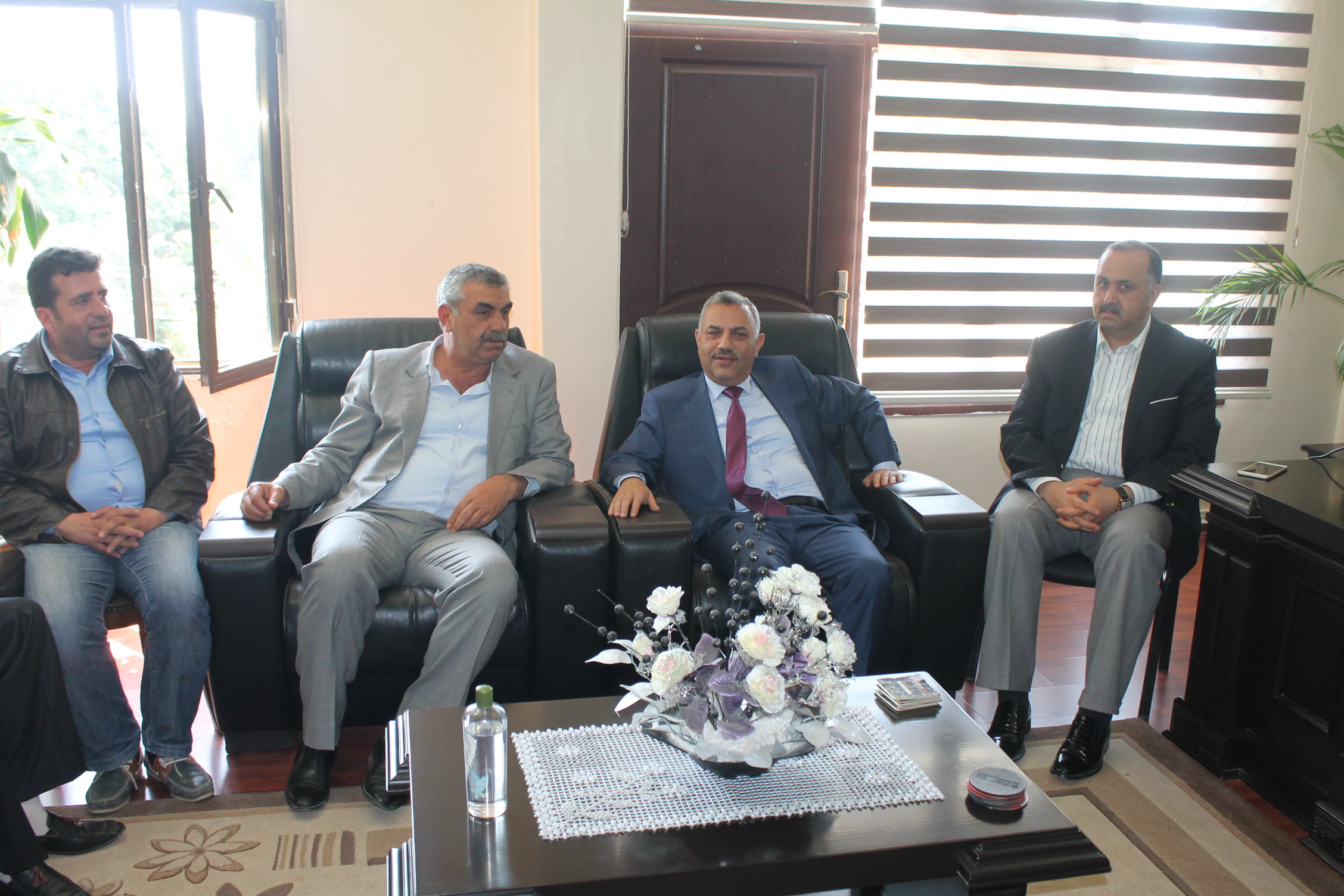 Başkan Şanverdi ve Ak Parti İlçe Teşkilatı Kumlu Belediyesini Ziyaret Etti