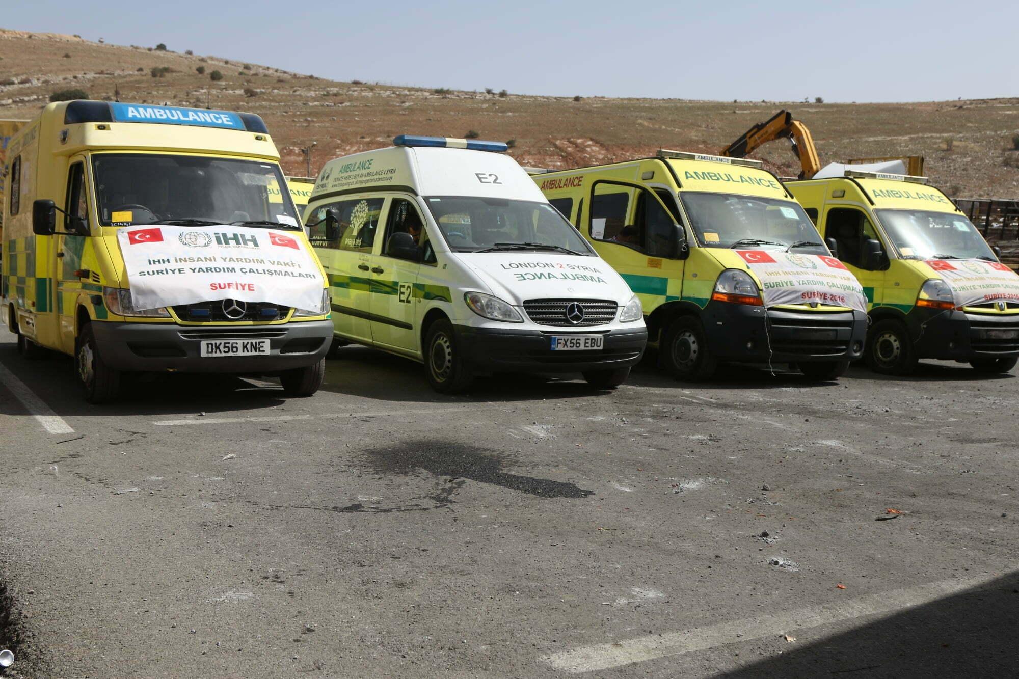 İHH'dan Suriye'ye ambulans yardımı