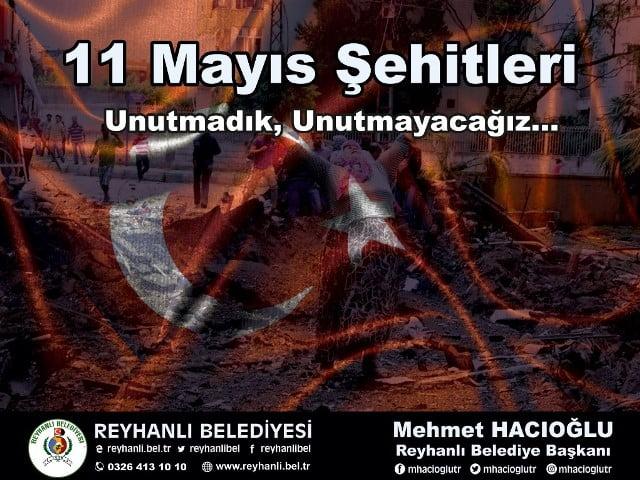 Başkan Mehmet Hacıoğlu'nun 11 Mayıs Şehitlerini Anma  Mesajı