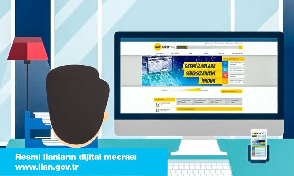Resmi ilanların dijital mecrası www.ilan.gov.tr