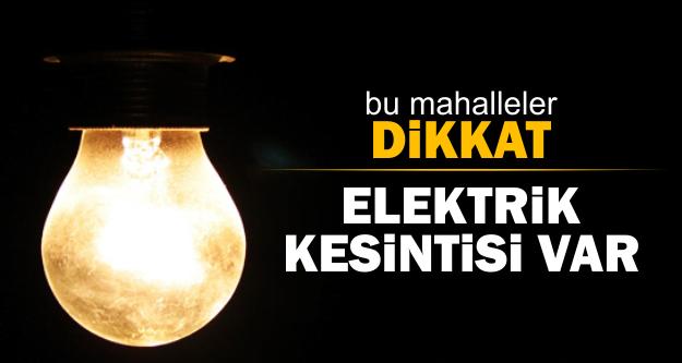 Reyhanlı'da Elektrik Kesintisi
