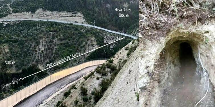 Hatay sınırında  Suriye'den Türkiye'ye tünel