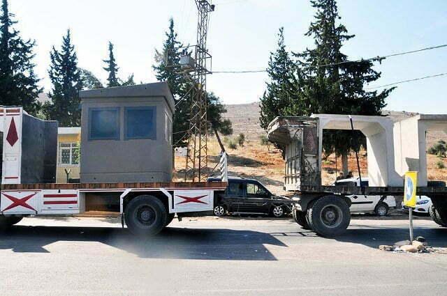 İdlib'e, konteynır, gözlem kulübesi ve beton blok sevkiyatı