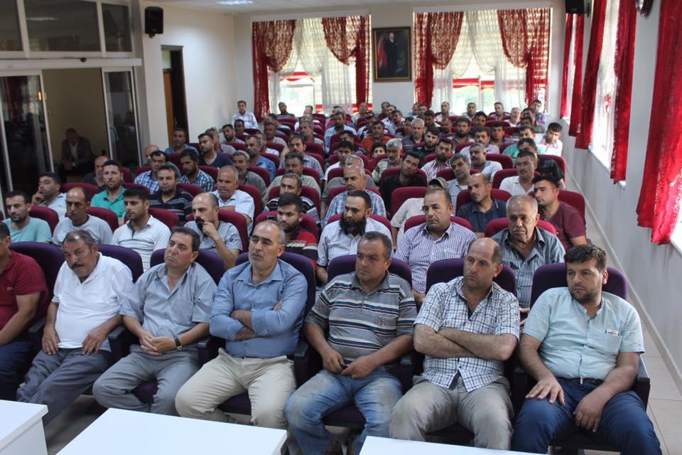 Reyhanlı Küçük Sanayi Sitesi  Bilgilendirme Toplantısı Yapıldı